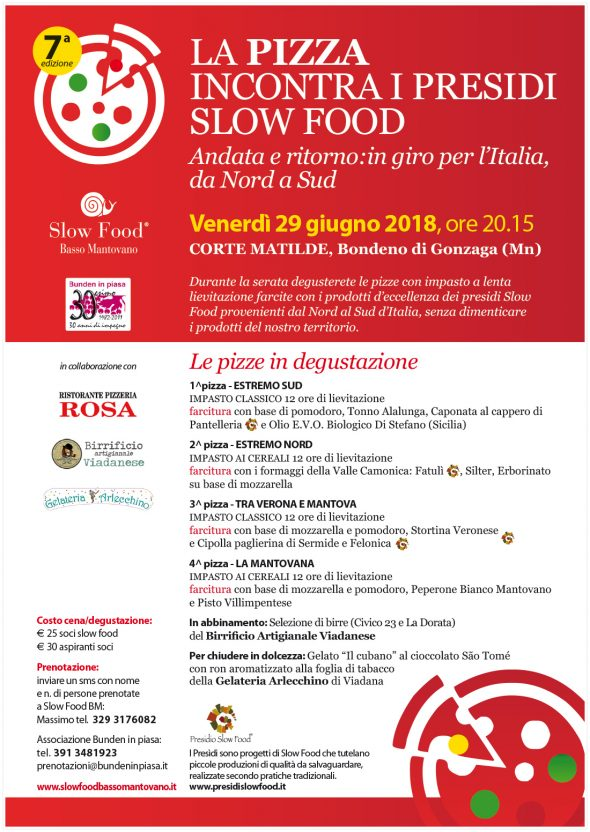 La pizza incontra i Presìdi Slow Food
